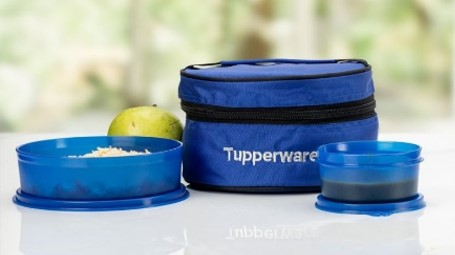 Tupperware Blue Classic Lunch with bag