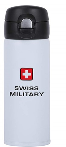 Swiss Military White Stainless Steel Vacuum Flask