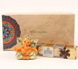 Ganesha with Fererro Rocher Chocolate
