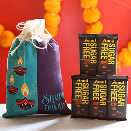 Sugar Free Chocolates in Diwali Bag