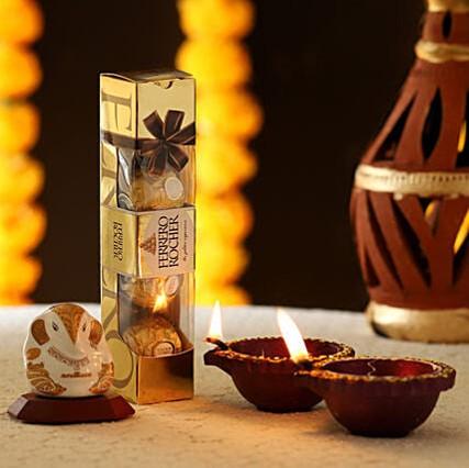 Ganesha Idol & Ferrero Rocher