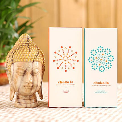 Choko la Bars & Brown Buddha Face Idol