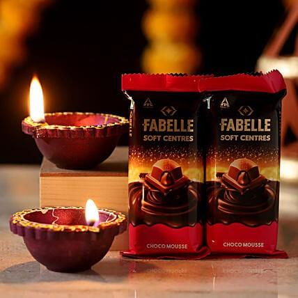 Fabelle Choco Mousse & Diwali Diya
