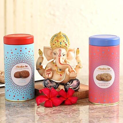 Choko La Cookies & Blue Dhoti Ganesha