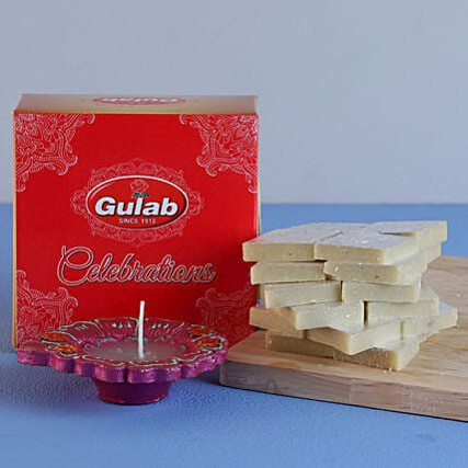 Diwali Celebration with Kaju Katli