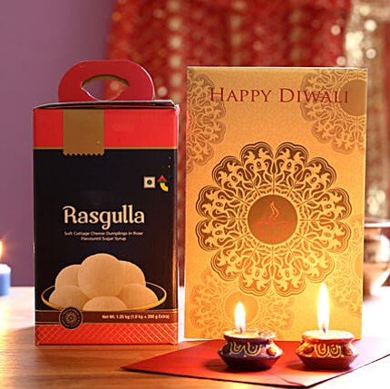 Diwali Celebration with Rasgulla